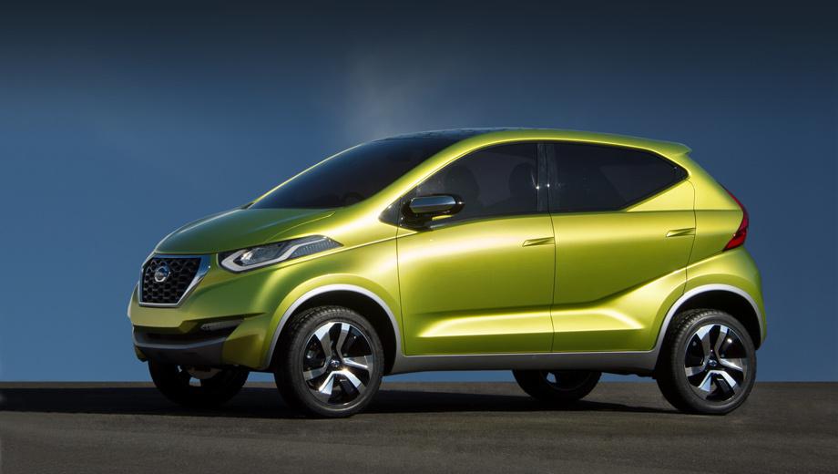 Renault kayou. Новинка с шильдиком Datsun в плане внешности многое позаимствует у концептуального паркетника redi-GO, но это будет не кроссовер, а скорее хэтч с претензией на кроссоверные черты в облике.