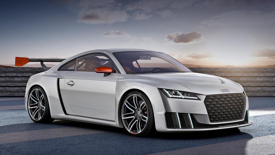 Audi tt,Audi tt clibsport turbo,Audi concept. Концепт на 14 см шире обычного хэтча Audi TT. Масса автомобиля — 1396 килограммов.