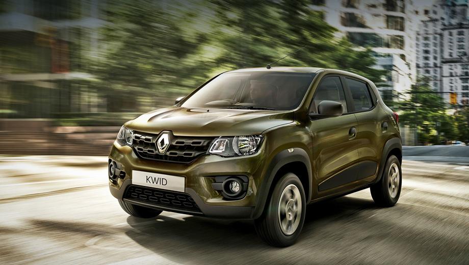 Renault kwid. Длина модели равна 3,68 м, ширина — 1,58 м. Клиренс — 180 мм.