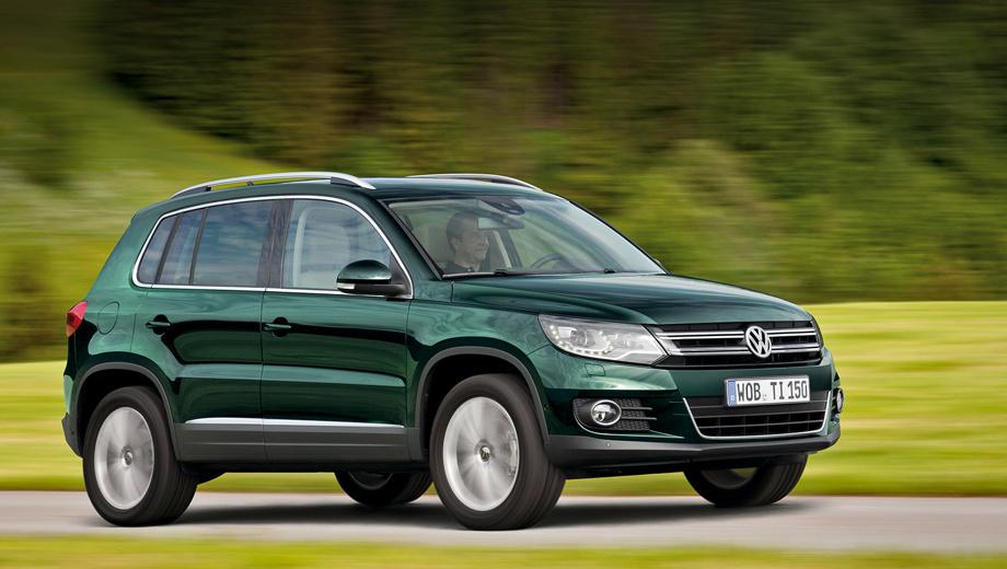 Volkswagen tiguan. Средний расход топлива 150-сильного Тигуана — 5,0 л на 100 километров пути, а у более мощной версии — 5,7 литра.