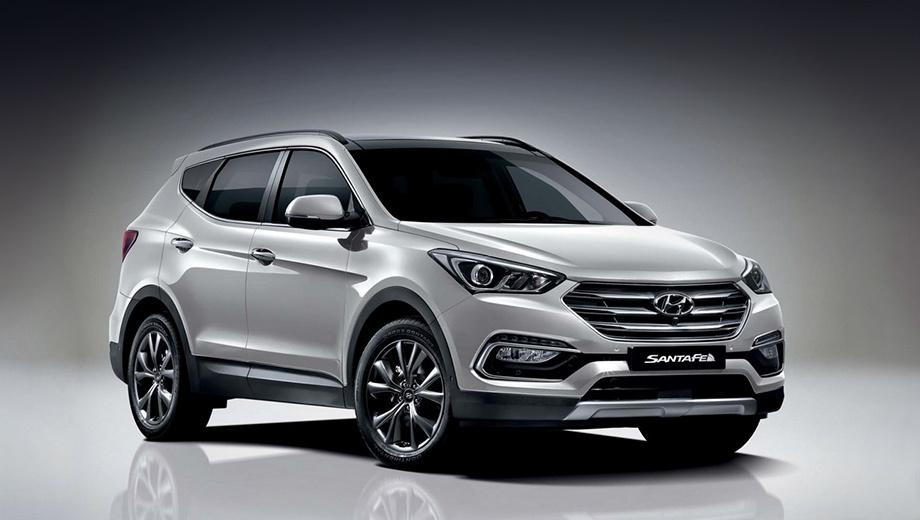Hyundai santa fe. Для модели обновили гамму колёсных дисков и добавили три дополнительных цвета окраски кузова.