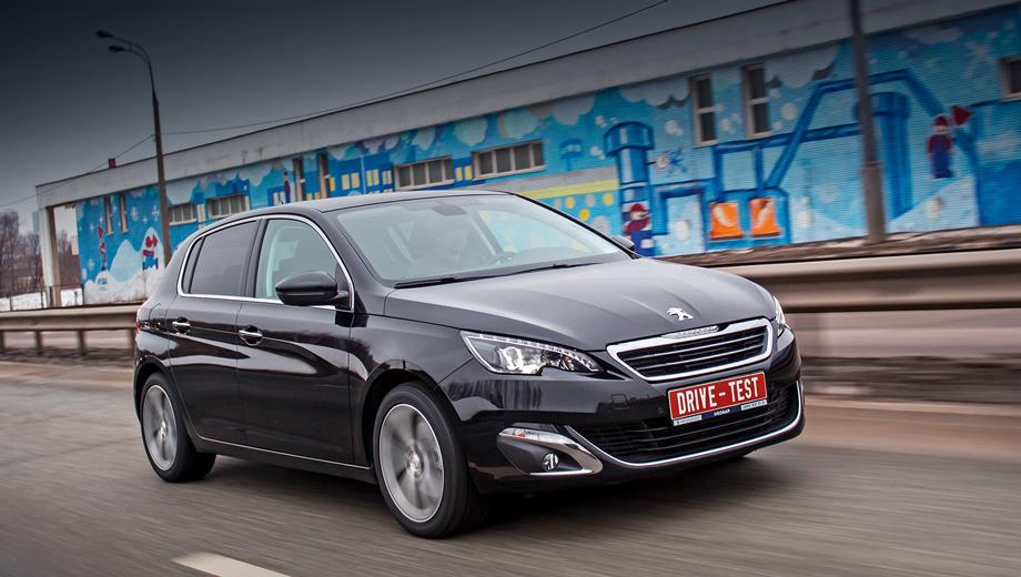 Peugeot 308. Наиболее доступный «триста восьмой» в России — это версия Access за 1 039 000 рублей, предусматривающая «атмосферник» 1.6 (115 л.с., 150 Н•м) в паре с пятиступенчатой «механикой». Нашу машину в максимальной комплектации доступной никак не назовёшь.