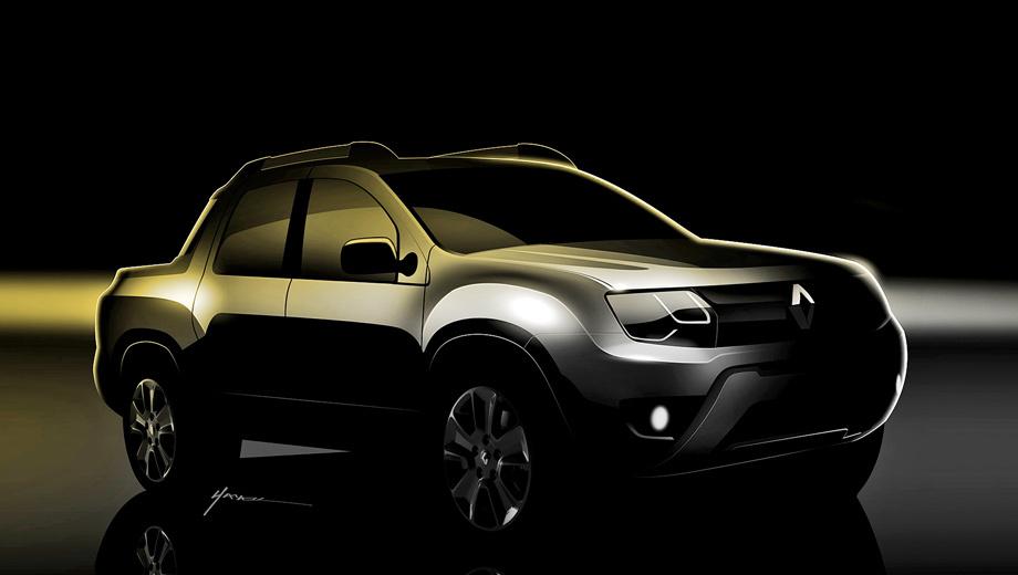 Renault duster,Renault duster pickup. Это пока единственные официальные изображения пикапа Renault Sport Utility.
