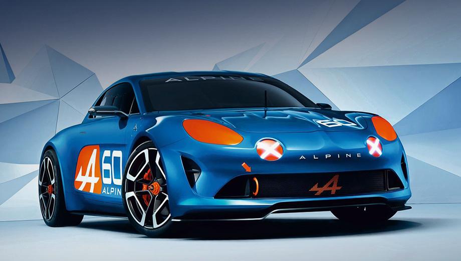 Renault alpine celebration. Концепт стилизован под легендарный спорткар Alpine A110 шестидесятых годов. Преемственность прослеживается во многих деталях экстерьера.