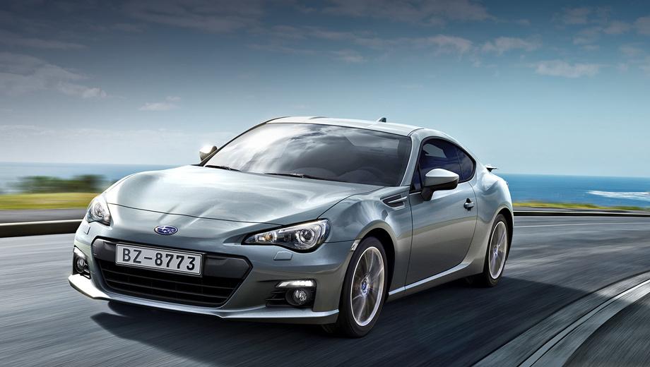 Subaru brz. Помимо традиционного для Subaru синего, для заказа доступны новые цвета — белый, серебристый, тёмно-серый, тёмно-синий и ярко-красный.