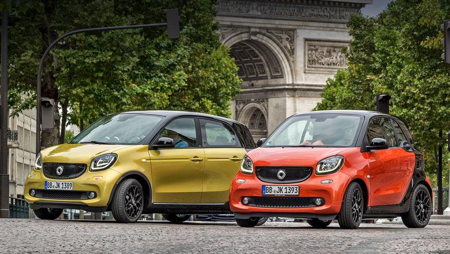 Smart fortwo,Smart forfour. В Европе чуть обновлённые автомобили поступят в продажу уже четвёртого июля.