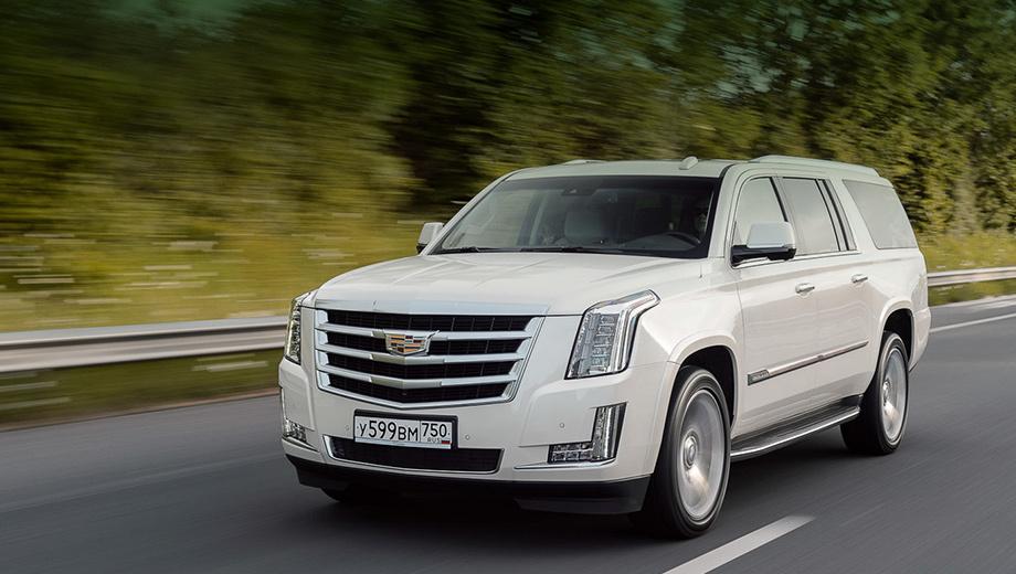Cadillac escalade. Cadillac Escalade будет доступен в двух модификациях: обычной и с удлинённой колёсной базой. Модель стоит от 4 340 000 рублей.