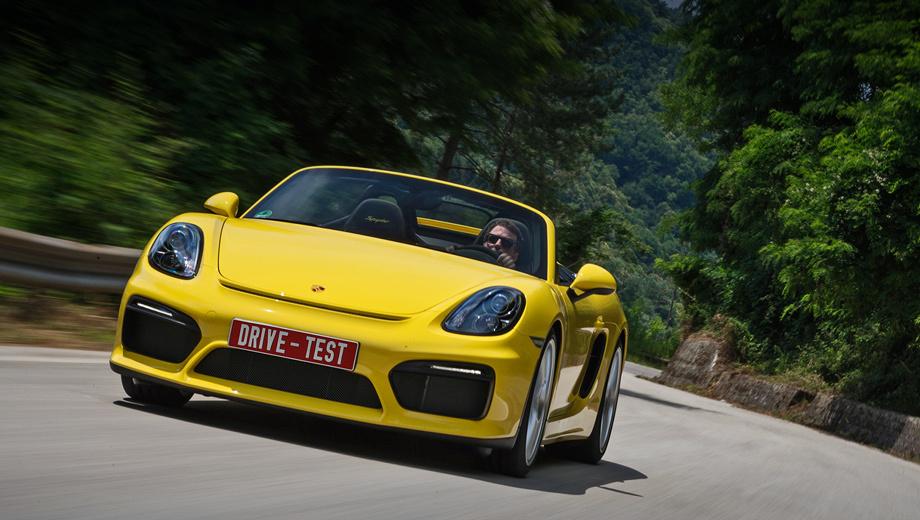 Porsche spyder. Как и прежде, Boxster Spyder — самый быстрый Boxster. Но, возможно, будет ещё вариант GT4, а одноимённый Cayman обзаведётся версией GT4 RS. А что — у нынешнего Porsche 911 уже 25 модификаций, а у пары Boxster/Cayman только девять.