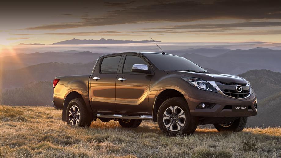 Mazda bt-50. Компания обнародовала пока только одно официальное изображение новинки. Оно не стало сюрпризом.