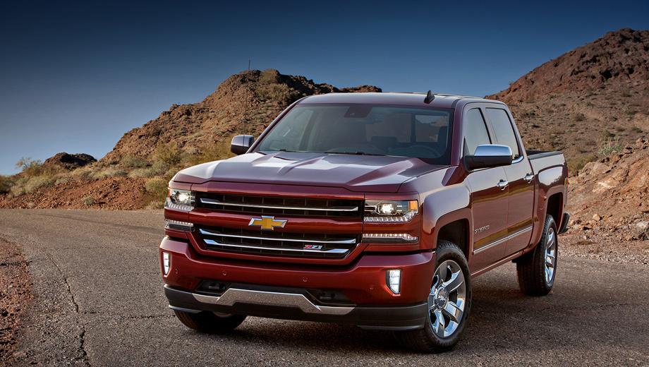 Chevrolet silverado. В продажу обновлённый пикап поступит осенью, после официальной презентации.