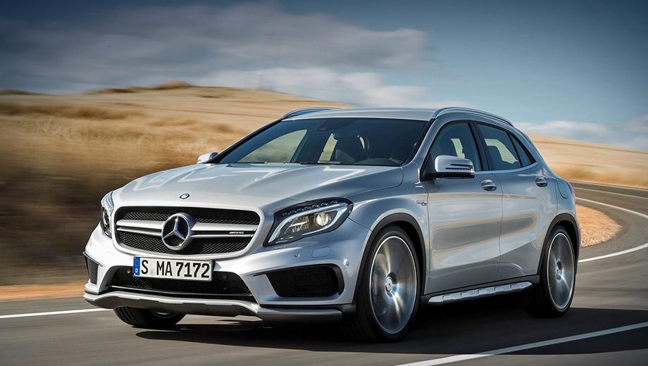 Mercedes cla amg,Mercedes gla amg,Mercedes amg. Внешне автомобили не изменились — был доработан только мотор.