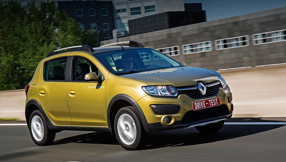 Renault sandero stepway. На днях французы снизили цены на Renault Logan и Sandero в среднем на 3%. Stepway подешевел на 9000 рублей (теперь от 544 000): базовая версия с «роботом» стоит 564 990, с «автоматом» — 602 990. За кондиционер и мультимедиа придётся доплатить 27 990 и 15 490 соответственно.