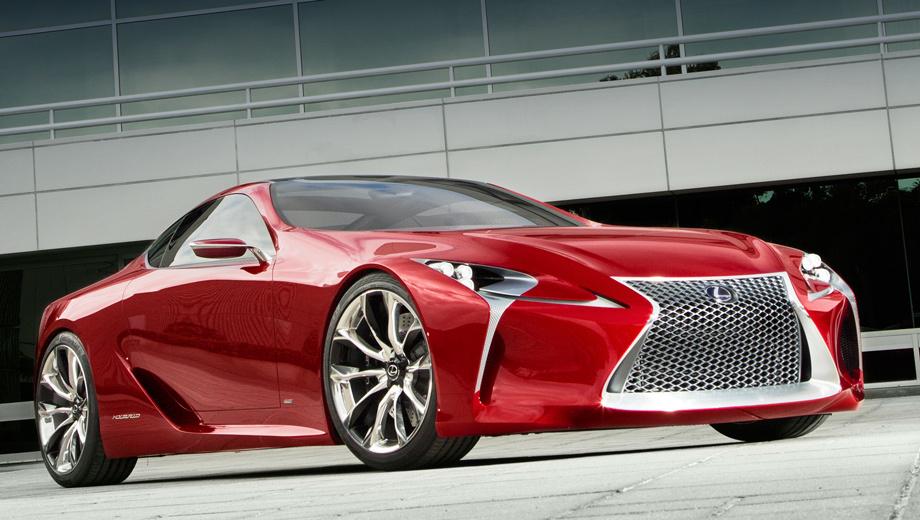 Lexus lf-lc. Концепт Lexus LF-LC (Lexus Future-Luxury Coupe) впервые показали на Детройтском мотор-шоу 2012 года. На стенде тогда стоял красный шоу-кар, а к концу года был представлен его клон, окрашенный уже в синий цвет.