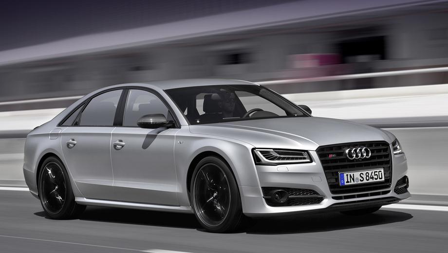 Audi s8,Audi s8 plus,Audi a8. Ради роста мощности инженеры изменили геометрию турбокомпрессоров и подняли давление наддува, а также модифицировали выпускные клапаны и, конечно, программу управления двигателем.