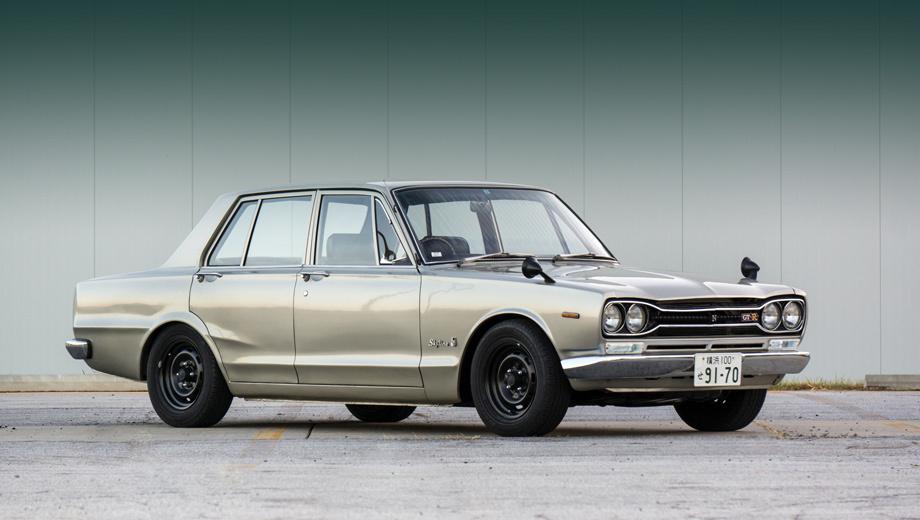 Nissan gt-r. Предком нового четырёхдверного «джи-ти-ара» можно считать седан Skyline GT-R 1969 года с двухлитровой 160-сильной «шестёркой» под капотом.