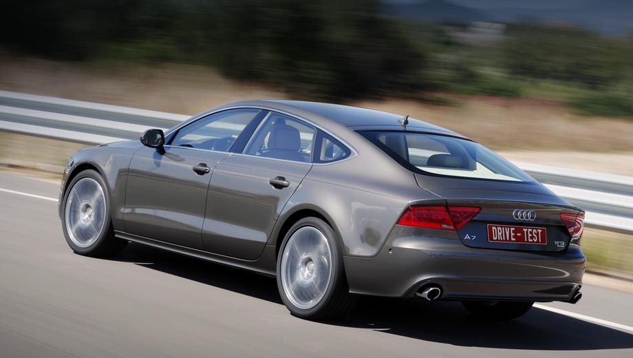 Audi a7,Audi a7 sportback. Sportback — первая ласточка нового семейства A6/A7. Ещё нас ждут седан, универсал и — чем чёрт не шутит — купе. Модульная архитектура позволяет экономить на разработке и экспериментировать с новыми нишами.