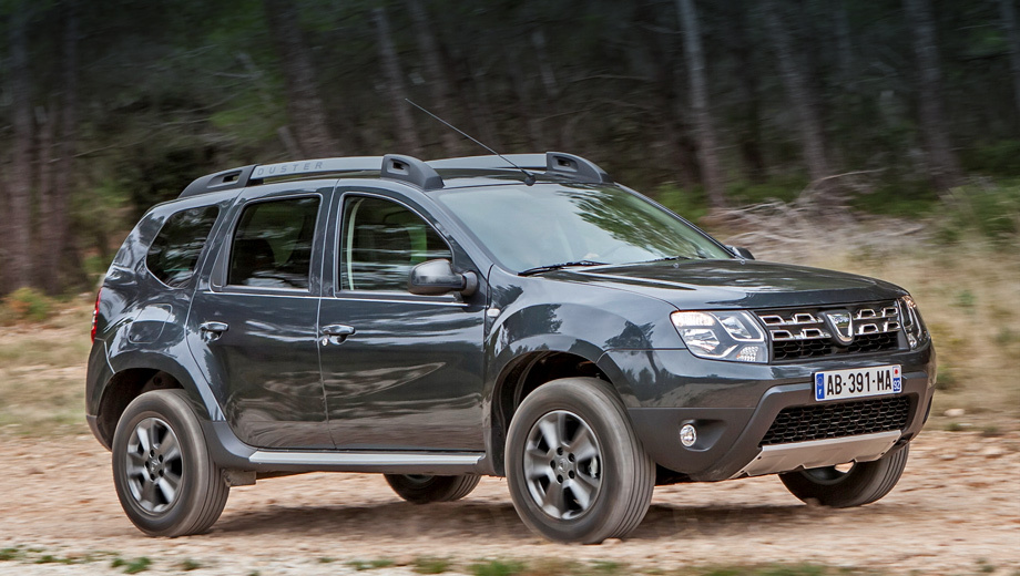 Dacia duster. В линейку российского Дастера входят 114-сильный и 143-сильный бензиновые двигатели, а также дизель мощностью 109 л.с. Автомобиль стоит от 549 000 рублей (с учётом действующих акций).