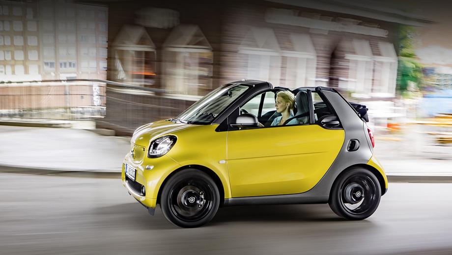 Smart fortwo,Smart fortwo cabrio. В Европе заказы на кабриолет начнут принимать в середине ноября, но только в феврале автомобили доберутся до дилеров.