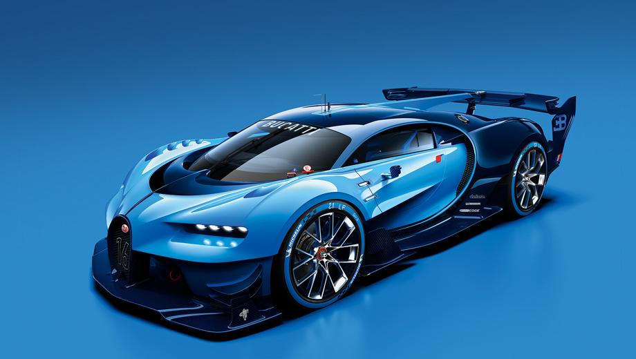 Bugatti vision gt. Создатели автомобиля вдохновлялись машинами Bugatti, выигрывавшими суточные марафоны в Ле-Мане в конце 1930-х.