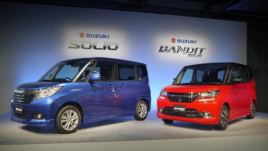 Suzuki solio,Suzuki solio bandit. Обычный Solio традиционно сопровождает «бандитская» версия, которая отличается агрессивным дизайном как снаружи, так и внутри. Само собой, Bandit в «базе» стоит дороже: 1 825 200–1 951 560 иен ($15-16 тысяч). Цены на простой микровэн начинаются с 1 454 760 иен (около $12 000).
