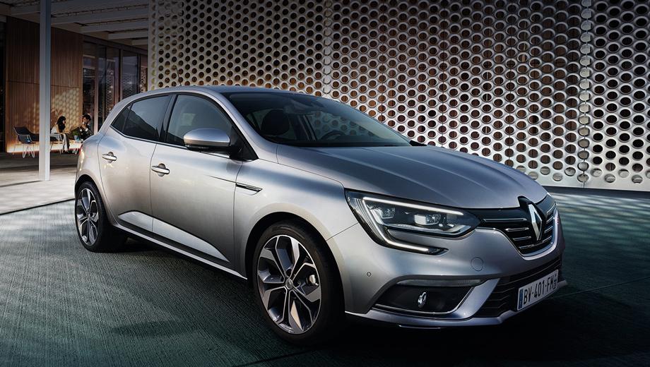 Renault megane. Визитная карточка новых моделей Renault — С-образные огни, словно скрепляющие фары и бампер.