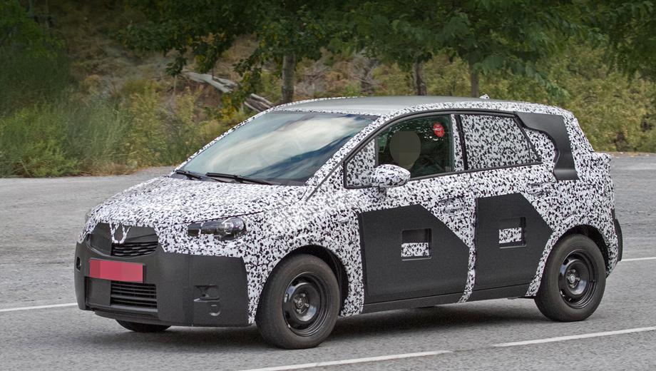 Opel meriva. Судя по прототипу, новая Meriva будет длиннее и выше предшественницы. Британское издание Autocar полагает, что модель, скорее всего, поменяет название.