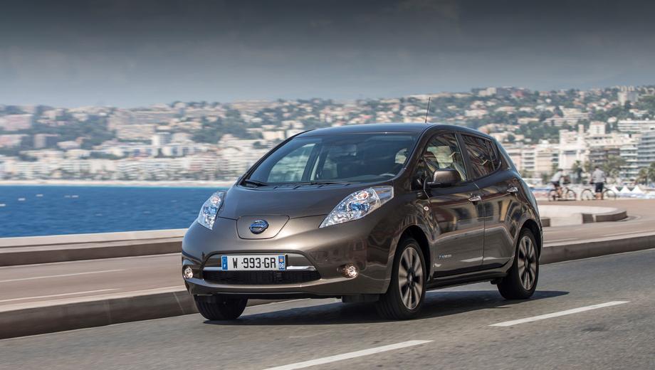 Nissan leaf. Выпускаемый с 2010 года Leaf серьёзно обновлялся в конце 2012-го. Нынешнее изменение, вероятно, последнее.