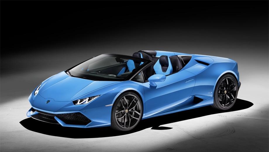 Lamborghini huracan,Lamborghini huracan spyder. К покупателям первые образцы поступят весной 2016 года. Стоимость — 186 450 евро.