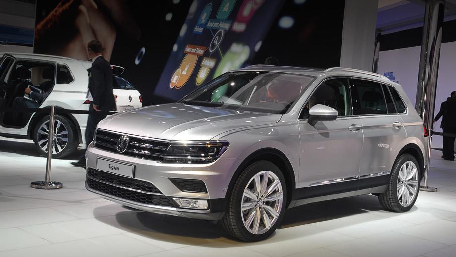 Volkswagen tiguan. Сдержанное оформление носа, пожалуй, вызывает в памяти в первую очередь не концепты, а, скажем, Passat.