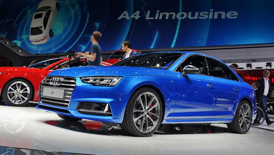 Audi s4. Базовым для S4 является светодиодный головной свет, за доплату — матричный Matrix LED.