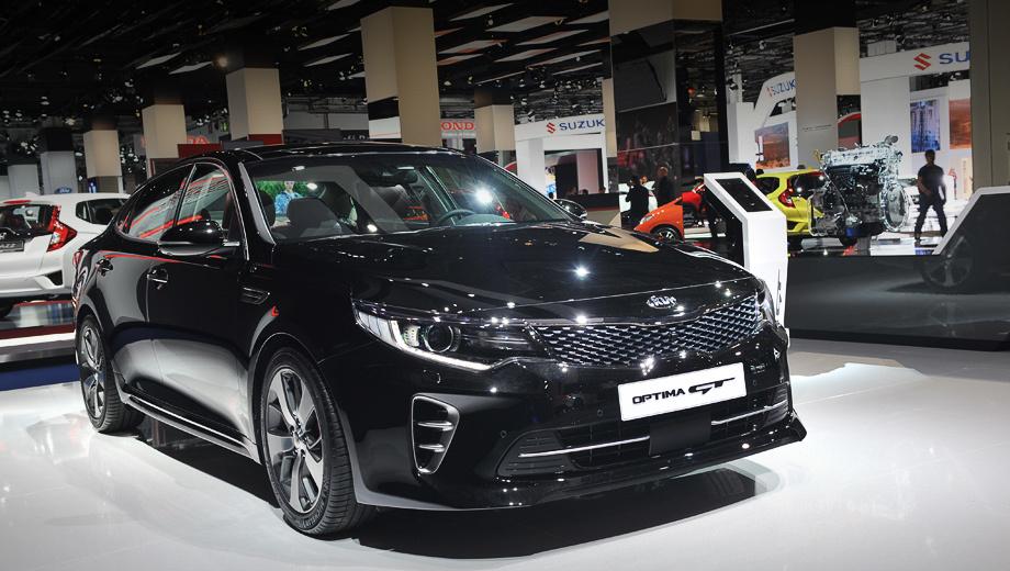 Kia optima. От американских машин Оптимы, предназначенные для европейского рынка, отличаются бамперами и рисунком оптики.