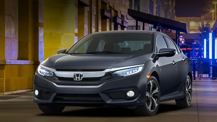 Honda civic. Рекламируя один из самых популярных автомобилей в США, компания намерена сделать акцент на том, что он оснащён лучше предшественника. Светодиодные дневные ходовые огни и фонари войдут в «базу», светодиодные фары будут доступны как опция.
