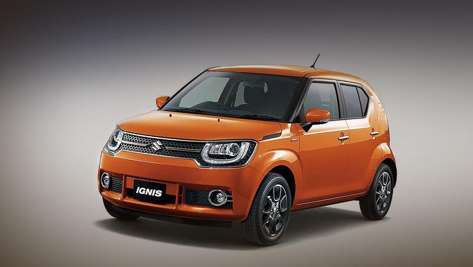 Suzuki ignis. От концепта, предвещавшего серийный Ignis, конвейерный вариант практически не отличается.