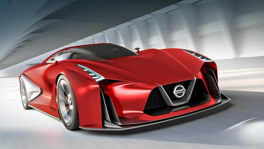 Nissan vision. Благодаря корректировкам внешность концепта стала более агрессивной.