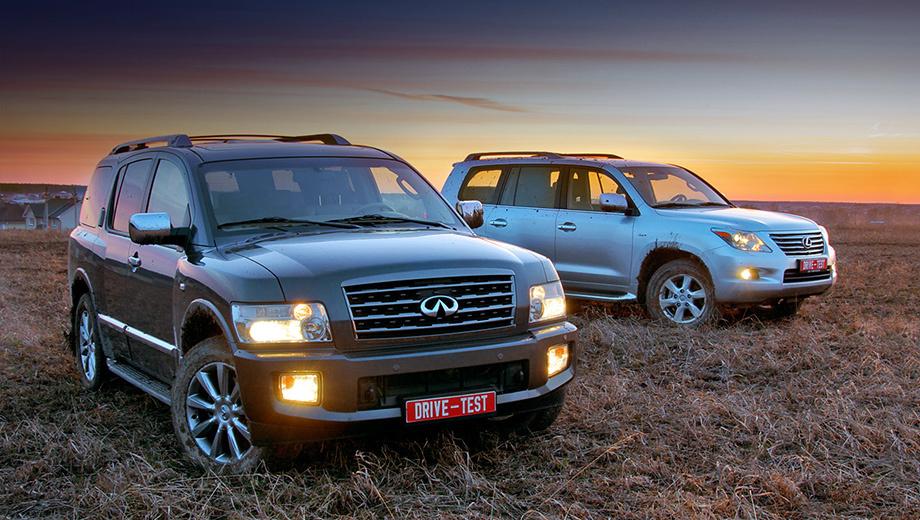 Infiniti qx,Infiniti qx80,Lexus lx. Внутри этих автомобилей даже двухметровый верзила смотрится мальчишкой. Это — самые большие японские внедорожники на рынке.