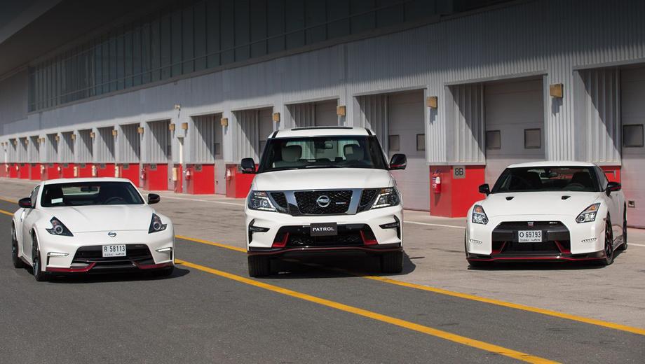 Nissan patrol,Nissan patrol nismo. Помимо гиганта Patrol, в Дубае были показаны версии Nismo купе GT-R и 370Z. Эти три модели и будут представлять отделение Nismo на Ближнем Востоке.