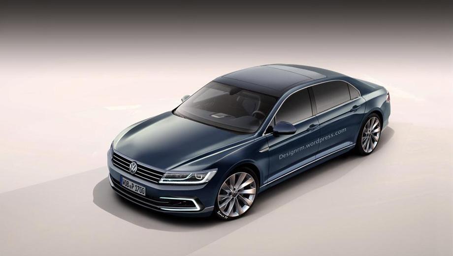 Volkswagen phaeton. «Второй» Phaeton фирма назвала «воплощением технологической компетентности и амбиций бренда». Неудивительно, что с его созданием Volkswagen не торопится (тут показан посторонний эскиз).