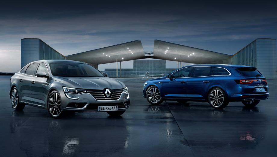 Renault talisman. В гамме модели два варианта кузова: седан и универсал.