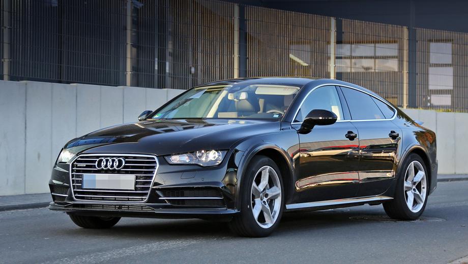 Audi a7. Самые быстрые версии Audi A7 Sportback смогут разгоняться до 100 км/ч менее чем за пять секунд. В зависимости от мотора автомобили будут комплектоваться семидиапазонными преселективными «роботами» или «автоматами» с восемью ступенями.
