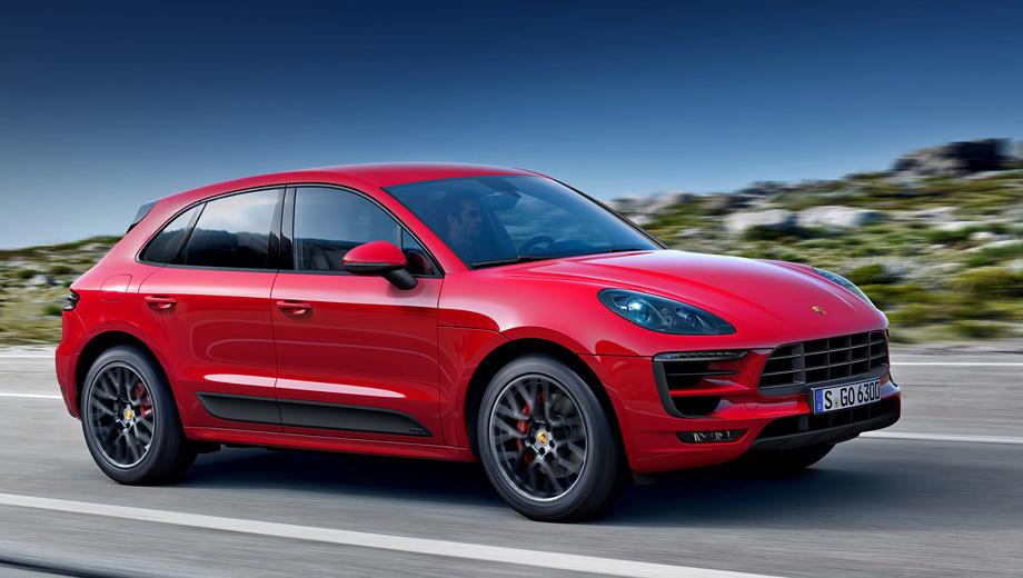 Porsche macan,Porsche macan gts. Помимо дисков, опознать версию GTS можно по матовым и глянцевым чёрным деталям в экстерьере.