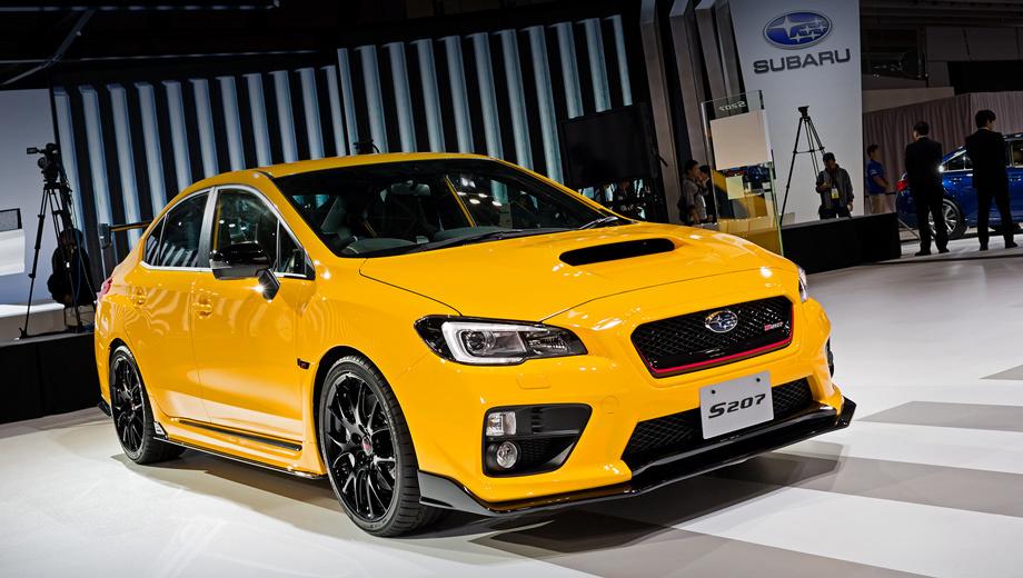 Subaru impreza wrx sti,Subaru impreza wrx sti s206. Эксклюзивный жёлтый цвет, чёрные корпуса боковых зеркал и молдинги на порогах ― характерные черты модификации S207 NBR Challenge Yellow Edition. Это самая дорогая машина в гамме «двести седьмых» ― 6 372 000 иен ($52 913).