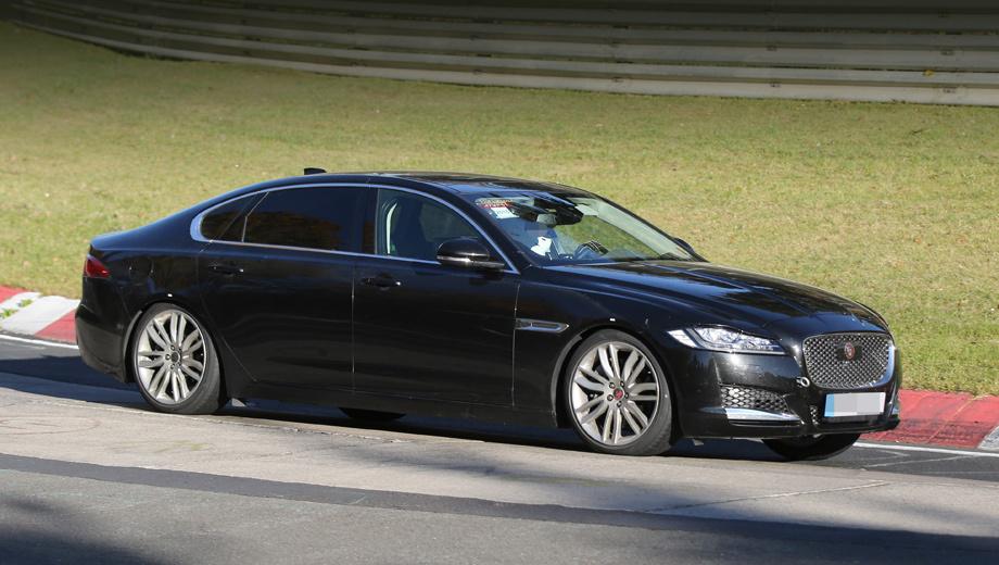 Jaguar xf,Jaguar xf lwb. Весь прирост длины пришёлся на заднюю дверь.