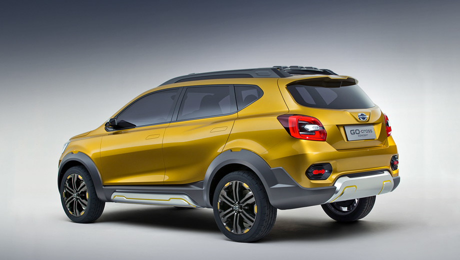 Datsun go-cross,Datsun concept. Точных сроков постановки кроссовера на конвейер представители компании Datsun пока не называют. Очевидно, что на нашем рынке главным конкурентом для него станет Renault Duster.