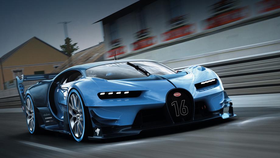 Bugatti chiron. Прототип Vision Gran Turismo был впервые показан публике этой осенью во Франкфурте.