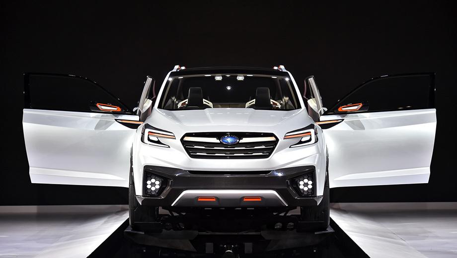 Subaru viziv future,Subaru tribeca,Subaru impreza. Составить впечатление о внешности будущих вседорожников марки Subaru можно по концепту Viziv Future, который именно для этого и создавался.
