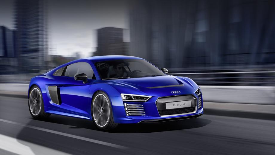 Audi r8,Audi r8 e-tron. Кандидат номер один на внедрение новой функции — мелкосерийный спорткар Audi R8 e‑tron.