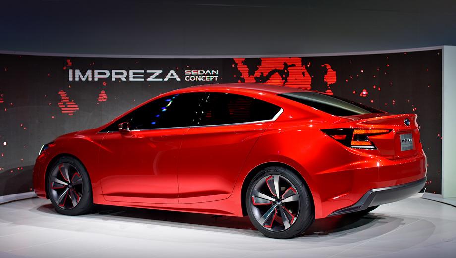 Subaru impreza,Subaru concept. По предварительным данным, в моторной гамме Импрезы появятся двигатели с непосредственным впрыском топлива.