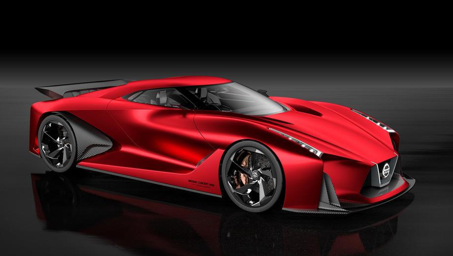 Nissan gt-r. Первый виртуальный суперкар Vision был создан для компьютерной игры Gran Turismo 6 в прошлом году. В 2015-м на Токийском мотор-шоу появился второй прототип (на иллюстрации). Выполненный в виде полномасштабной модели, он самым недвусмысленным образом намекал на новый GT-R, до выхода которого осталась пара лет.