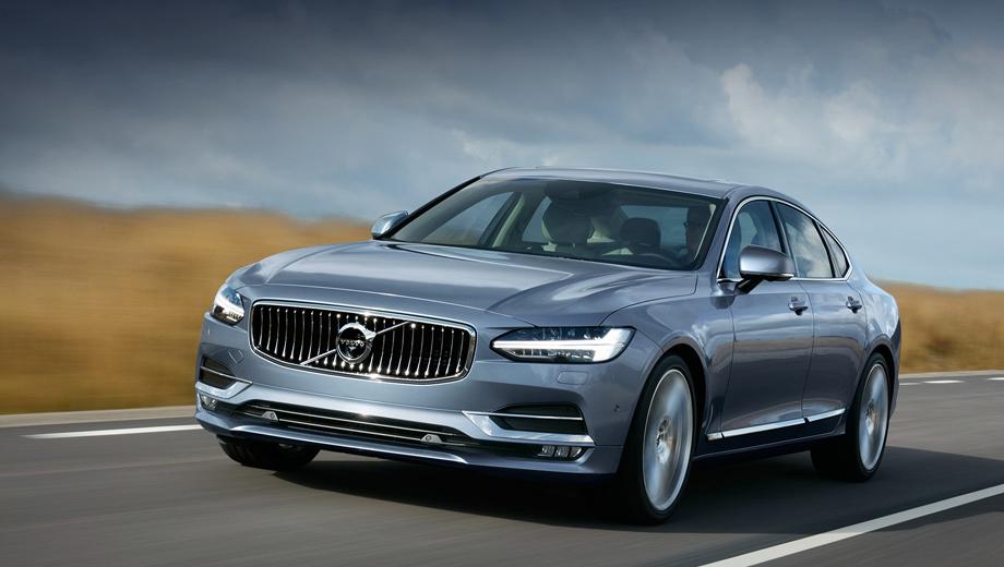 Volvo s90. Длина — 4963 мм, ширина — 1890 (2019 по боковым зеркалам), высота — 1443, колёсная база — 2941 мм. Снаряжённая масса варьируется в пределах 1800–2150 кг. Дорожный просвет — 152 мм. Коэффициент аэродинамического сопротивления — 0,28–0,29.