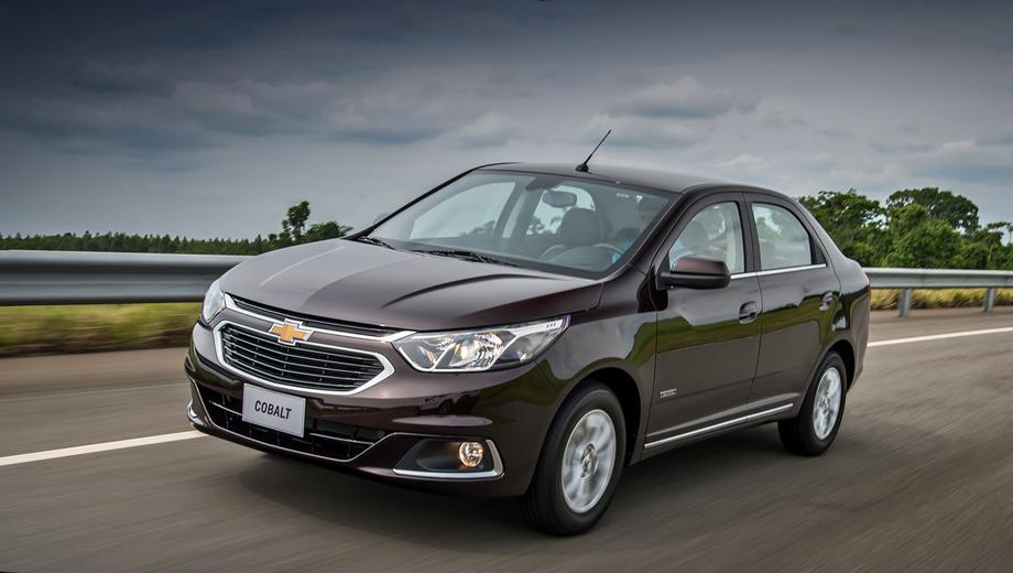 Chevrolet cobalt. Стилистически Cobalt «причесали» под другие модели марки — Cruze и Malibu. Всё благодаря новой решётке радиатора и оптике.